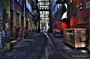 Wesley Allen Photography Framed Prints - Alley Art 5 Framed Print by Wesley Allen Shaw