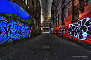 Wesley Allen Photography Photos - Alley Art 9 by Wesley Allen Shaw
