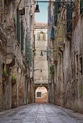 Old World Charm Prints - Alley Between Old World Buildings Print by Andersen Ross