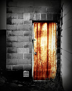 Fine Art Photograph Art - Alley Door 2 by Perry Webster