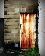 Fine Art Photograph Art - Alley Door by Perry Webster