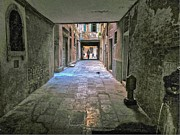 Walkway Digital Art - Alley in Venice by Alberta Brown Buller