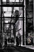 Street Photographer Photographs Prints - Alley Parade  Print by Jerry Cordeiro