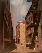 City Mixed Media Originals - Alley Series 1 by Anita Burgermeister