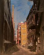 Cityscape Mixed Media Originals - Alley Series 2 by Anita Burgermeister