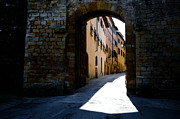 Old Wall Prints - Alley with sunlight Print by Mats Silvan