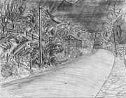 Stable Drawings - Alliance Boulevard by Lantern Light by Jonathan Armes