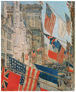 Us Flag Paintings - Allies Day by Frederick Childe Hassam
