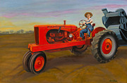 Vintage Painter Painting Prints - Allis Chalmbers in Wisconsin Print by The Vintage Painter