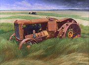 Tractor Originals - Allis Chalmers Tractor by Glen Heberling