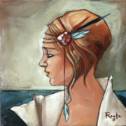 Blonde Paintings - Allison by Jacque Hudson-Roate