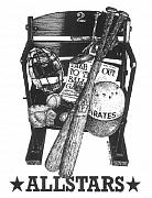 Pittsburgh Pirates Drawings Prints - Allstars Print by Bruce Kay