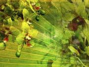 Leafy Mixed Media - Allure 2 by Kaypee Soh - Printscapes