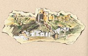 Castle Mixed Media Originals - Almeria Castle or Alcazaba de Almeria by Jill Bennett