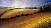 Tuscan Sunset Painting Prints - Almost Heaven Print by Susan Jenkins