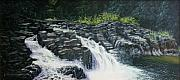 Waterscape Painting Prints - Almost Home - Lucia Falls Print by Ron Smothers
