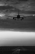 Airliner Prints - Almost Home Print by Andrew Soundarajan