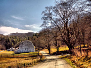 Country Dirt Roads Metal Prints - Almost Home Metal Print by David Walsh