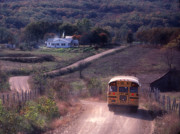 Rural School Bus Posters - Almost Home Poster by Garry McMichael