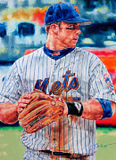 Mets Drawings - Almost by Janine Hoffman