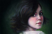 Original Oil Portrait Posters - Almost Ready-detail Poster by Talya Johnson