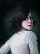 Original Oil Portrait Posters - Almost Ready Poster by Talya Johnson