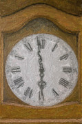 Clock Hands Framed Prints - Almost Six OClock Framed Print by Diane Macdonald