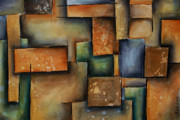Earth Tone Painting Originals - Almost Squares by Kyle Lang