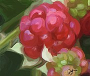 Raspberry Paintings - Almost There Part One by Patti Siehien