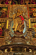 Blessed Mother Photos - Almudena Cathedral Alter by John Greim
