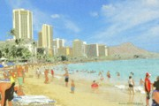American Photos - Aloha Hawaii - Waikiki Honolulu by Peter Art Prints Posters Gallery