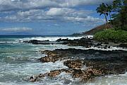 Colour Digital Art Prints - Aloha Island Dreams Paako Beach Makena Secret Cove Hawaii Print by Sharon Mau