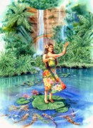 Dancer Paintings - Aloha by John Yato