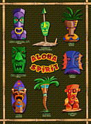 Poster From Digital Art Metal Prints - Aloha Spirit Metal Print by Ron Regalado