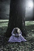Frock Photo Posters - Alone At Night Poster by Joana Kruse