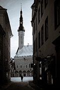 Estonia Photo Framed Prints - Alone in Tallinn Framed Print by David Bowman