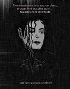 Michael Jackson Metal Prints - Alone In The Dark II Metal Print by Reggie Duffie