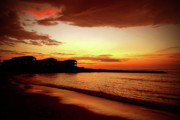Jamaican Sunset Photos - Alone on the Beach by Kamil Swiatek