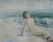 Nude Paintings - Alone by Tigran Ghulyan