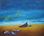 Surrealism Painting Acrylic Prints - Alone together Acrylic Print by Richard    J Thorpe
