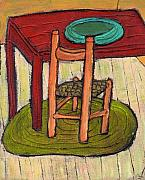 Kitchen Chair Paintings - Alone by Wayne Potrafka