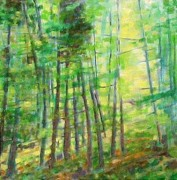 Sloan Paintings - Along Buckslide Road by Karen Sloan