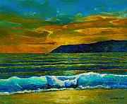 South Africa Painting Prints - Along the African Coast Print by Michael Durst