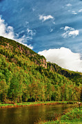 Lake Placid Ny Photos - Along the AuSable 5449 by Guy Whiteley