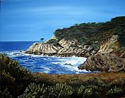 Mary Rogers Prints - Along the California Coast Print by Mary Rogers