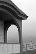 Archways Posters - Along the Coast of Maine in Black and White Poster by Suzanne Gaff