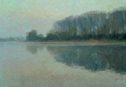 Limburg Paintings - Along the Maas in Southern Limburg by Nop Briex