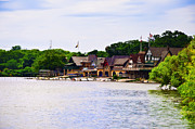 Boat House Row Framed Prints - Along the Schuylkill River at Boat House Row Framed Print by Bill Cannon