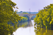 """schuylkill River""  Prints - Along the Schuylkill River in Manayunk Print by Bill Cannon"