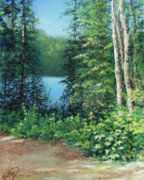 Canada Pastels - Along The Trail by Kathy Dolan